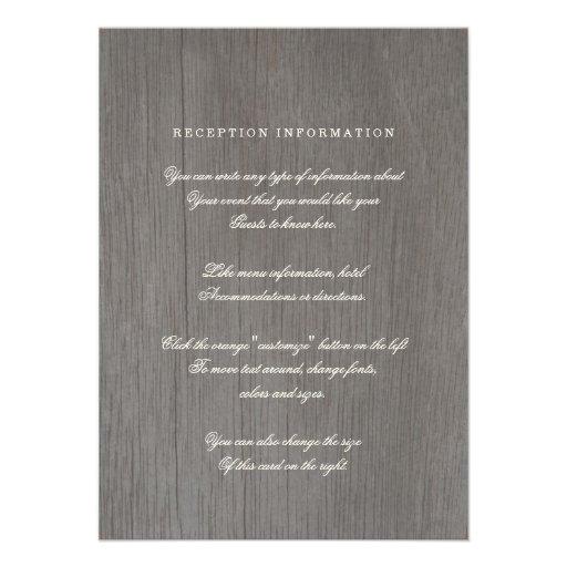 Forever & Always Vintage Wedding Insert Card