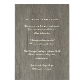 Forever & Always Vintage Wedding Insert Card Personalized Invitations