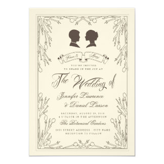Forever & Always Vintage Wedding Invitation