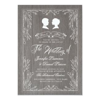 Forever & Always Vintage Wedding Invitation
