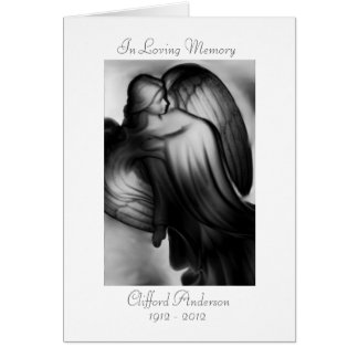 Forever And A Day - Angel Memorial Card
