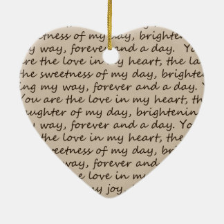 Forever and A Day Poem Ceramic Ornament