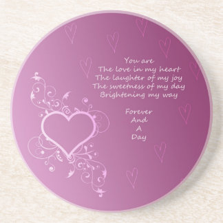 Forever and A Day Poem Drink Coaster