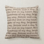 Forever and A Day Poem Pillow