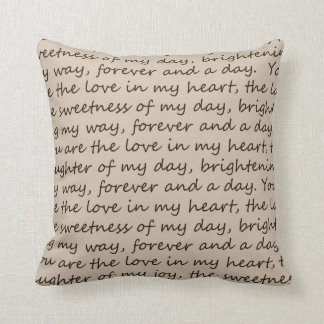 Forever and A Day Poem Throw Pillow