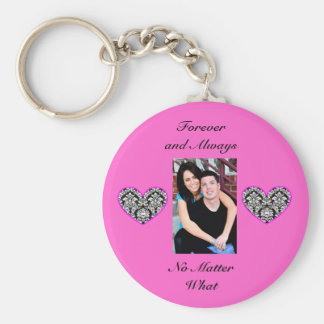 Forever and Always love picture keychain