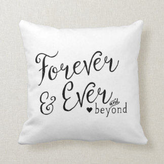 Forever and Ever and Beyond Throw Pillows