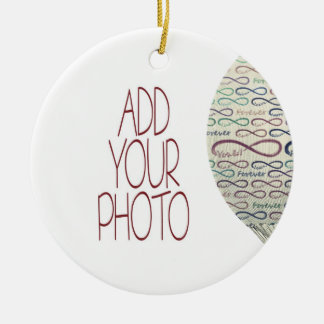 Forever and for always flight add your photo ceramic ornament
