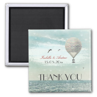 Forever and for always flight - wedding thank you magnet