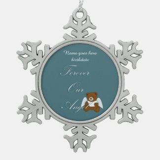 Forever Angel, Pregnancy and Infant loss Snowflake Pewter Christmas Ornament