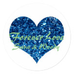 Forever Blue Hearts Thank You Card