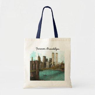 Forever Brooklyn tote, Brooklyn Bridge, WTC Tote Bag