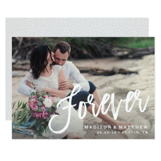 Forever Brushed Save the Date Announcement