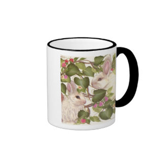 Forever Bunnies Ringer Coffee Mug