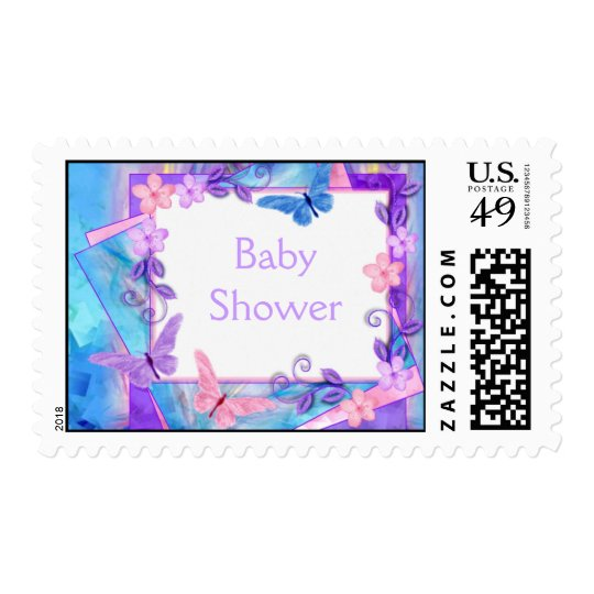 forever butterflies-Baby Shower Postage