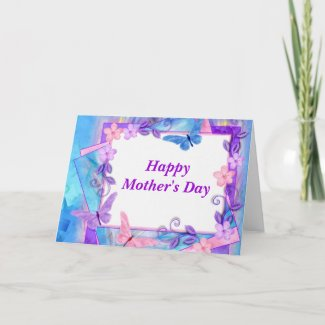 forever butterflies-HappyMother's Day zazzle_card
