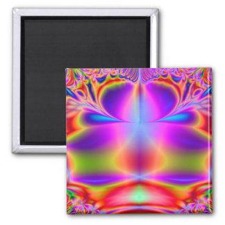 Forever Color Fractal 2 Inch Square Magnet