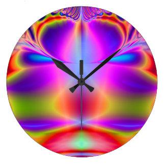 Forever Color Fractal Large Clock