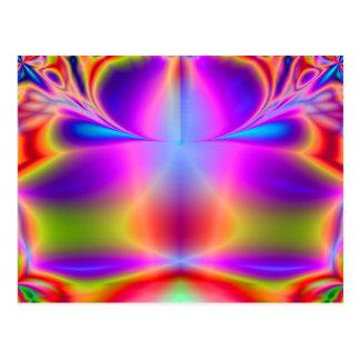 Forever Color Fractal Postcard