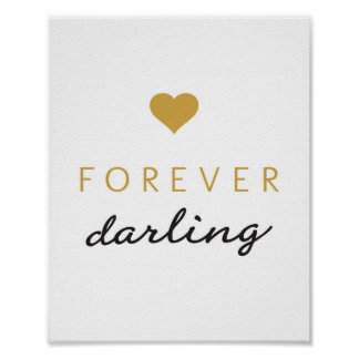 Forever darling - art print