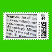 Forever - Definition - Save the Date Postage Stamp