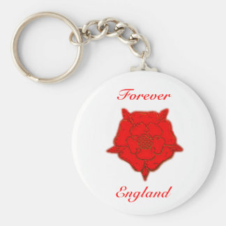 Forever England Basic Round Button Keychain