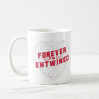 Forever Entwined Heart Coffee Mug (White)