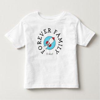Forever Family kids Retro Rocketship Adoption Gift Toddler T-shirt