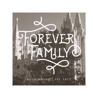 Forever Family LDS Temple Custom Wall Art