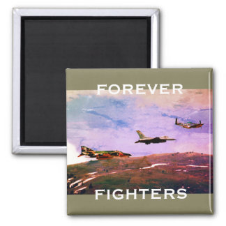 """Forever Fighters"" Trio of U.S. Fighter Aircraft Magnet"