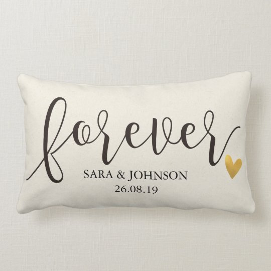 Personalized Pillows For Wedding Gift: Forever,Forever Together,Personalized Wedding Gift Lumbar