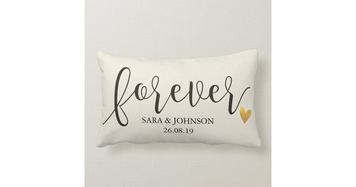 Forever Forever Together Personalized Wedding Gift Lumbar