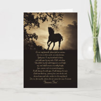 Forever Free Horse Sympathy Card