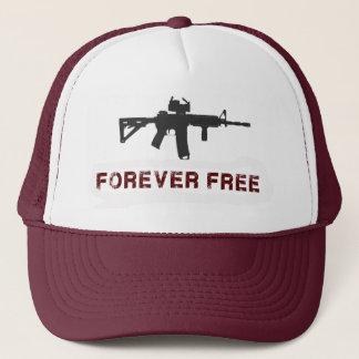 """Forever Free"" Maroon Trucker Hat"