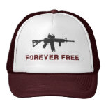 """Forever Free"" Maroon Trucker Hat"