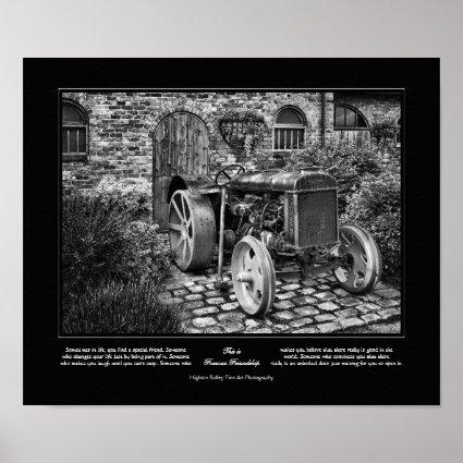Forever Friendship, Vintage Fordson Tractor Poster