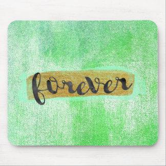 """Forever"" Glam Mint Green Mousepad"