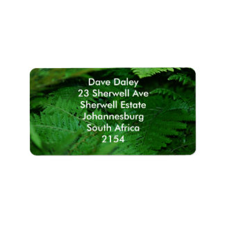 Forever green personalized address labels