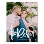Forever Hand Lettered | Wedding Photo Poster