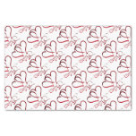Forever Hearts Red on White Tissue Paper