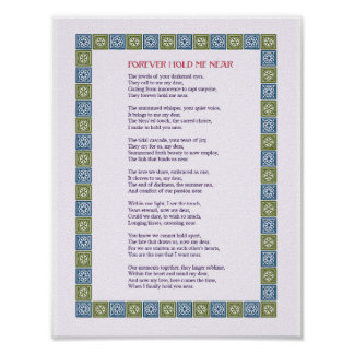 Forever Hold Me Near - A Love Poem - Print