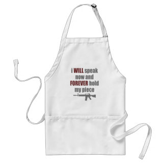 Forever Hold My Piece Adult Apron