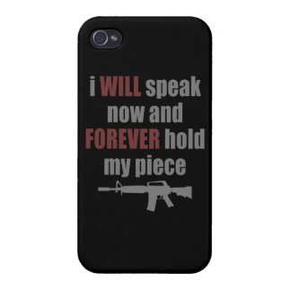 Forever Hold My Piece iPhone 4/4S Cases