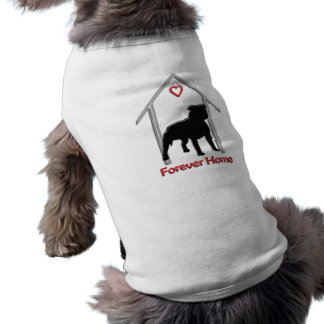 Forever Home Black Pitbull Logo Pet T Shirt