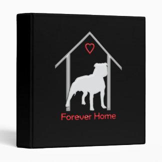 Forever Home White Pitbull Logo Binder