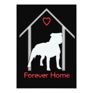 Forever Home White Pitbull Logo Card