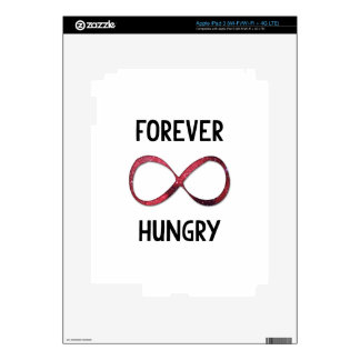 Forever Hungry Infinity Sign Quote Decals For iPad 3