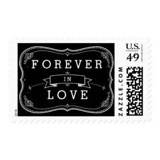 Forever in Love Wedding Fancy Chalkboard Postage