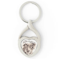 Forever in my Heart Custom Pet Memorial Keychain