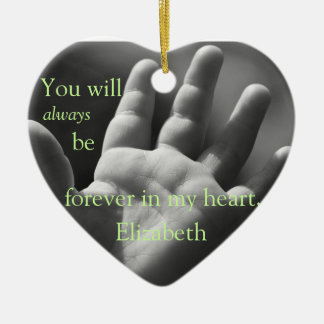 Forever in My Heart, Customized Ceramic Ornament